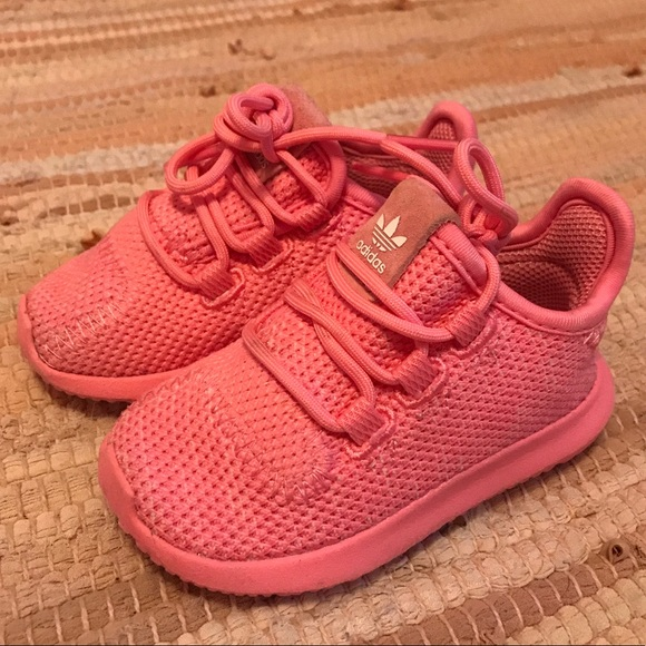 outlet store 50d92 f8113 Adidas Tubular Shadow Knit Toddler Hot Pink